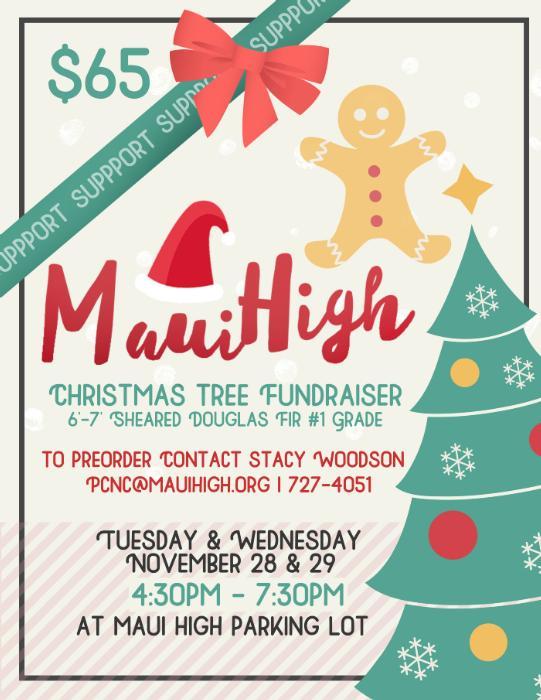 Christmas Fundraiser Flyer.Maui High School