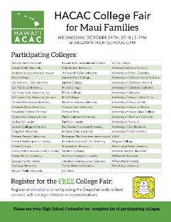 Fall College Fair at BHS - College & Career Center News
