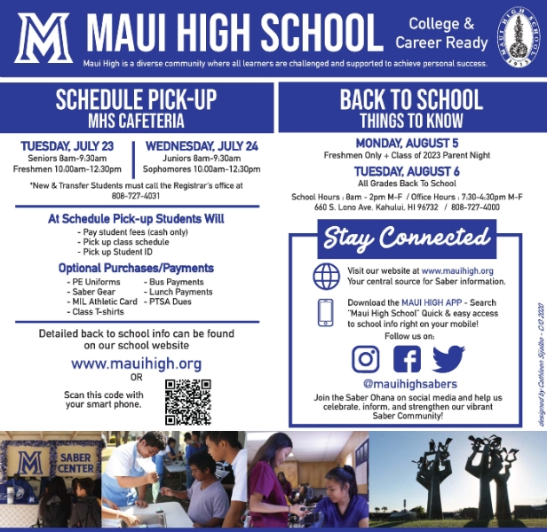 News and Announcements - Maui High School