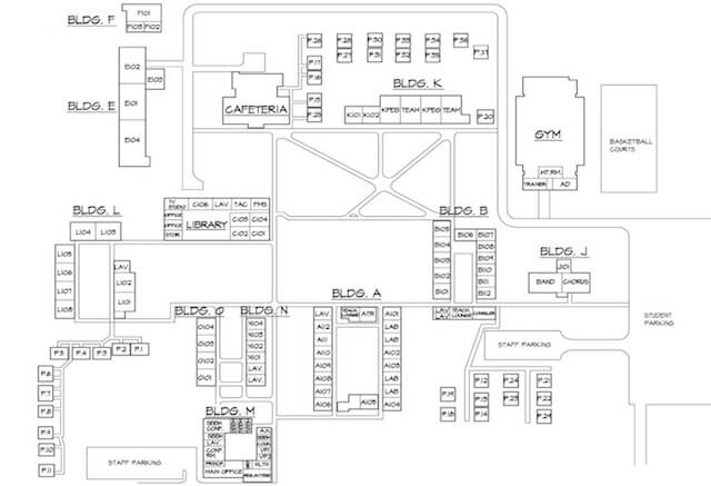 School Campus Map.Maui High School
